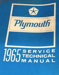 1965 PLYMOUTH Barracuda 426 Belvedere Fury Barracuda Service Shop Repair Manual