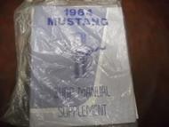 1964 Ford Mustang Service Shop Repair Manual Supplement NEW REPRINT 1964