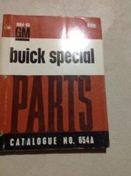 1964 1965 BUICK SPECIAL Parts Catalog Catalogue Manual OEM Book CDN RARE NO 654A