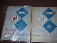1963 Buick Special & Special Deluxe Skylark Service Shop Repair Manual Set OEM
