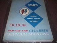 1963 Buick SPECIAL & SPECIAL DELUXE SKYLARK Service Shop Repair Manual FACTORY