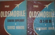 1961 Oldsmobile 88 S-88 S88 98 Service Repair Shop Manual SET W SUPPLEMENT NEW