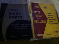 1960 1961 MERCURY METEOR & COMET Chassis Parts & Accessories Catalog Manual SET