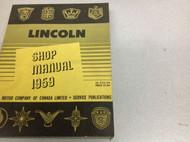 1959 Lincoln Models Continental Mark IIII 4 Service Shop Repair Workshop Manual
