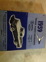 1959 Dodge Truck M FM Series Parts Catalog Catalogue Manual CDN OEM
