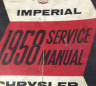 1958 CHRYSLER IMPERIAL Service Shop Repair Manual BRAND NEW FACTORY REPRINT