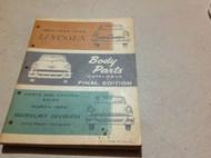 1953 1954 1955 LINCOLN BODY Parts Catalog Catalogue Manual Final Edition