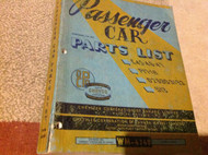 1950 1951 52 53 Chrysler Car Parts List C45 46 47 P17-18 S13 D29-30-31-32 Manual