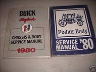 1980 Buick Skylark Chassis Body Service Shop Repair Manual Set OEM W FISHER BODY