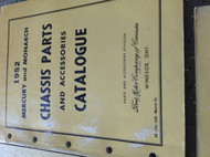 1952 Mercury & Monarch Parts & Accessories Catalog Catalogue Manual OEM BOOK CDN