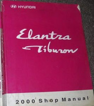 2000 HYUNDAI ELANTRA TIBURON Service Shop Repair Manual BOOK 00 FACTORY BOOK NEW