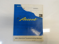 2001 HYUNDAI ACCENT Electrical Troubleshooting Manual TORN DAMAGED FACTORY OEM
