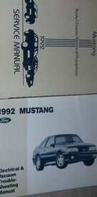 1992 FORD MUSTANG Service Shop Repair Manual Set 2 VOLUME W EWD DEALERSHIP OEM