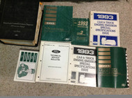 1993 FORD MUSTANG Service Shop Repair Manual Set W PCED + SPECS + TECH BULLETIN