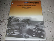 2003 Polaris SCRAMBLER ATV 500 Shop Repair Service Manual FACTORY OEM BOOK X NEW