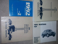 1992 FORD MUSTANG Service Shop Repair Manual Set OEM FACTORY DEALERSHIP 92 BOOK