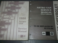 1986 86 CHEVY ASTRO VAN Service Repair Shop Manual SET OEM DEALERSHIP BOOKS HUGE