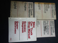 1984 Ford F-150 250 350 Bronco Truck Service Shop Repair Manual Set FACTORY 84 x