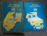1974 Chrysler Imperial Lebaron Newport New Yorker Service Shop Manual Set DAMAGE