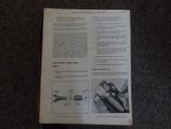 1972 Pontiac Firebird GTO Trans Am Service Shop Repair Manual DAMAGED WORN OEM