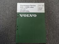1980 Volvo Models Gasoline Engines Maintenance Service Shop Manual FACTORY OEM