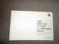 1986 86 BMW 735i 735 i Electrical Troubleshooting Service Repair Manual OEM 86