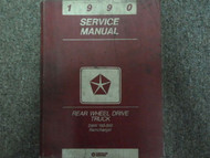 1990 Dodge Ramcharger Truck DW 150 250 350 Service Shop Repair Manual FACTORY