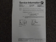 1980s 1990s 2000s BMW Service information Bulletins Manual General Information