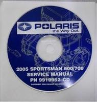 2005 POLARIS SPORTSMAN 600/700 Service Repair Manual CD FACTORY OEM X