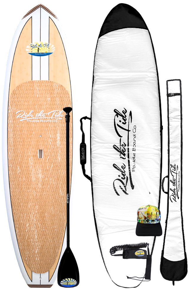 Ride The Tide Bamboo Aloha Stand Paddle Board