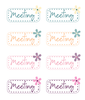 Cute LDS Planner - Meeting Stickers