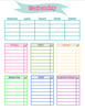 Ultimate Girls Camp Director Kit -  menu planner options