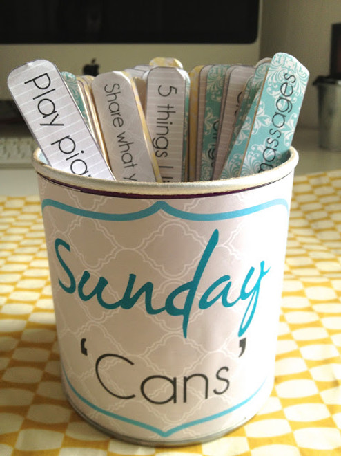 Sunday Activities 'Cans'