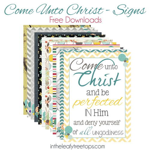 Posters to print out and apply to a canvas or to frame.  Go to http://mormonmomplanner.blogspot.com/2014/01/come-unto-christ-and-dots.html  for a tutuorial
