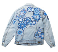 SOLD OUT  Monochromatic Geo Floral Jacket #2