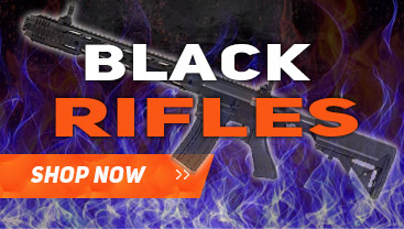 airsoft rifles in black