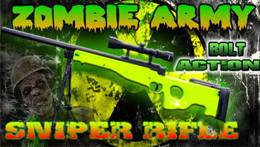 photo of an zombie army bb gun sniper rifle
