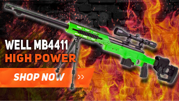 well mb4411 sniper rifle in green