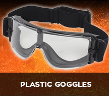 plastic airsoft safety goggles