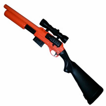 Double Eagle M47A2 Shotgun with solid stock in orange