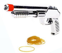Elastic rubber band gun