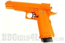 Galaxy G6 M1911 Full Metal Pistol BB Gun in orange