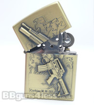 Oil Lighter with colt M4 carbine with M203 Grenade Launcher imprint