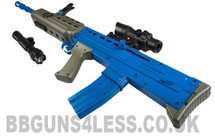 L85A2 SA80 type bb gun in blue