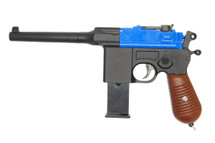 Galaxy G12 WW11 Broomhandle Style pistol in blue