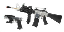 DPMS A17 RIS Electric Rifle and Colt MK IV Spring Pistol on duty kit