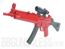 MP5-A6 full size spring powered in two tone red