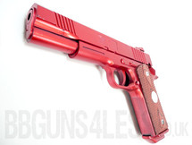 Yulong 082 M1911 style pistol in metallic red
