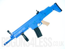 SCAR 8902 spring powerd rifle with folding stock in blue