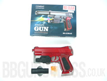 Vigor 238AS spring pistol with light & laser in red